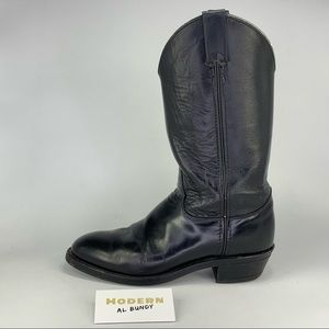 Justin Boots Black Leather Mens Size 6.5